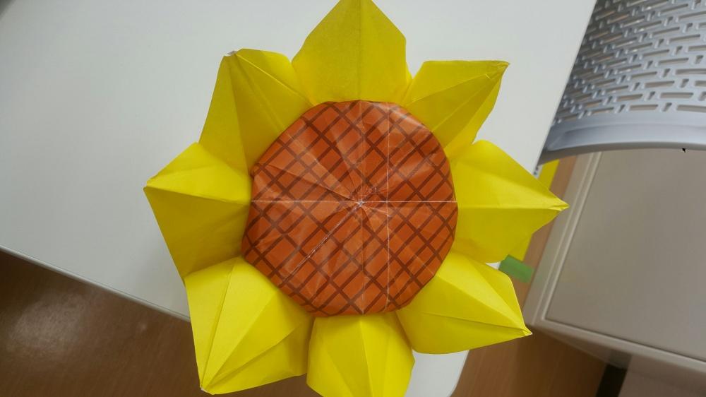 すべての折り紙 折り紙 花 ひまわり : 折り紙の天才!! | ハピネス花 ...